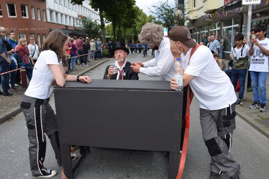 Fußgruppe das Klavier